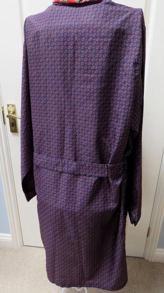 Sammy Smoking Jacket, Geometric Robe, Blue Smokin… - image 5