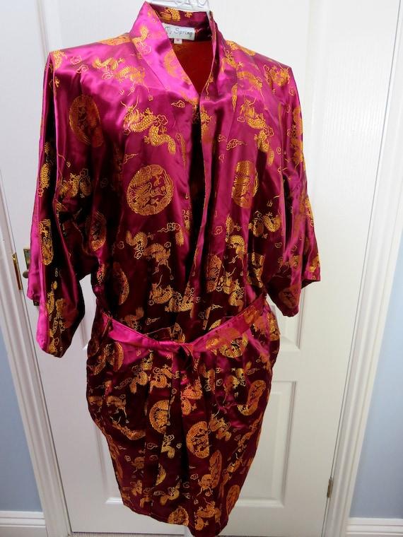 Kimono Robe, Smoking Jacket, Oriental Robe, Dressi