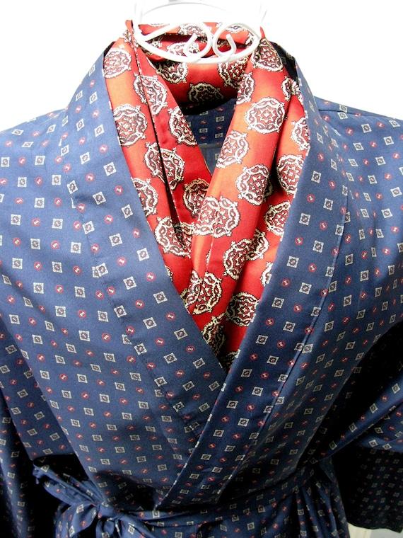 Geometric Robe, Smoking Jacket, Dressing Gown, Vin