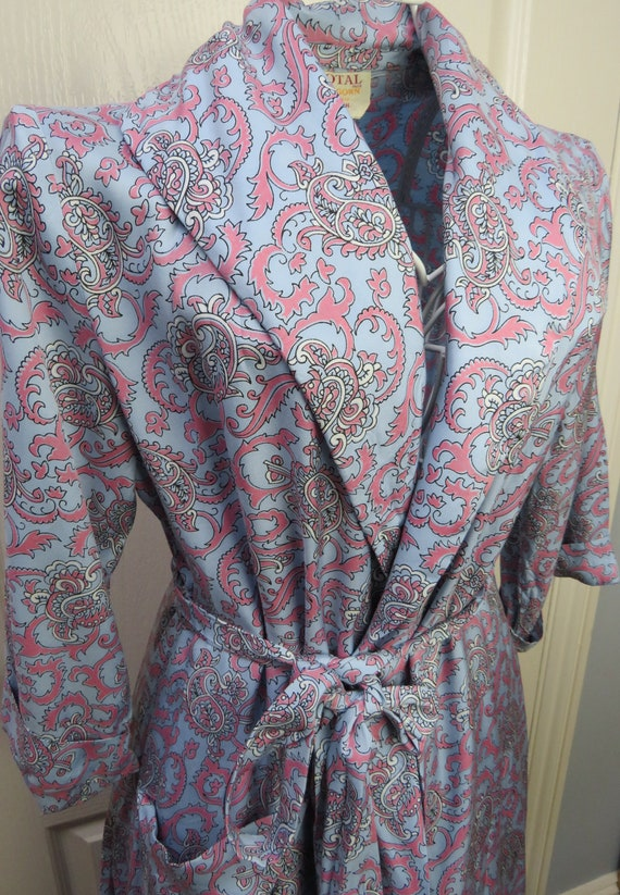 Tootal House Gown, Ladies Robe, Vintage Dressing G