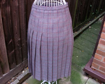 Dunedin Skirt, Wool Skirt, Checked Skirt, Plaid Skirt, Vintage Skirt, Scottish Skirt, Pure Wool Skirt, UK Size 16, 1970s Skirt, Ladies Skirt