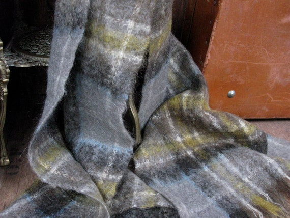 Mohair Scarf, Mohair Shawl, Vintage Wool Scarf, Vi