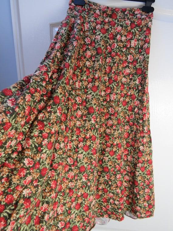 Laura Ashley Skirt, Wool Blend Skirt, Fall Skirt,