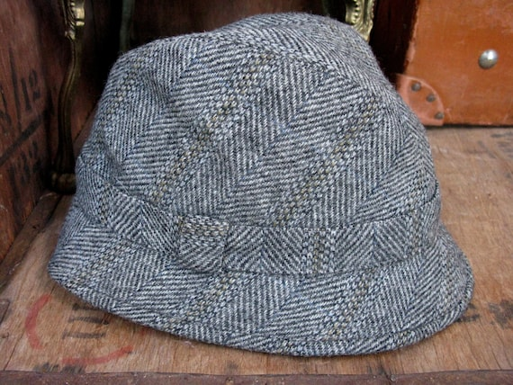 Grey Wool Trilby, Mens Trilby Hat, Trilby Hat, Vin
