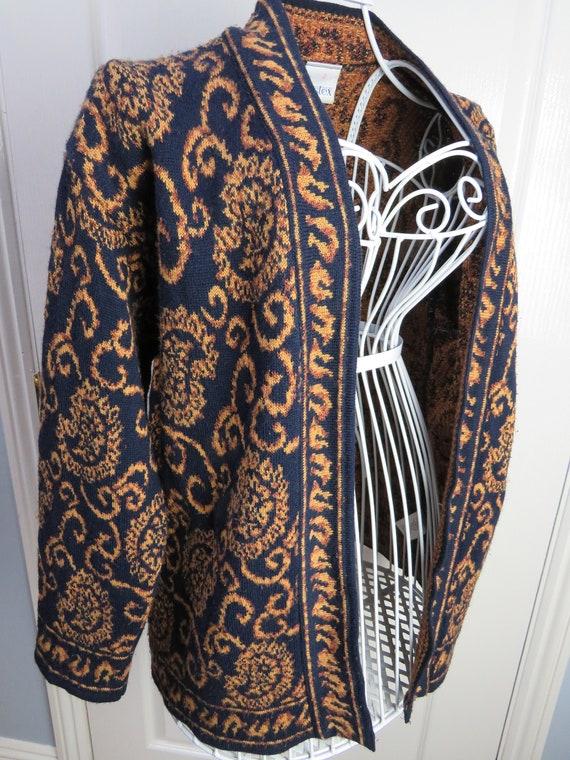 Tapestry Cardigan, Made In GB, Brocade Cardigan, W
