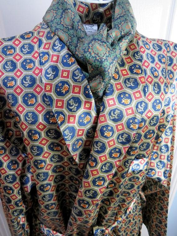 Vintage Smoking Jacket, Gold Smoking Jacket, Itali