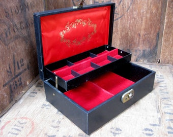 Design Philipp Jewelry Box, Jewellery Box, Trinket Box, Trinket Stow, Keepsake Box, Jewellery Case, Jewelry Case, 1960s Jewelry Box, Black