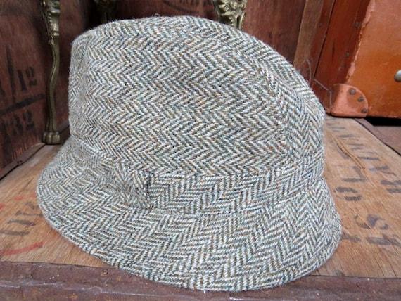 Harris Tweed Trilby, Vintage Trilby Hat, Made In S