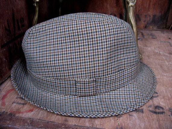 Dunn & Co Trilby, Checked Trilby, Mens Trilby Hat,