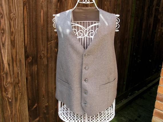 Mens Waistcoat, Wool Waistcoat, Vintage Waistcoat,