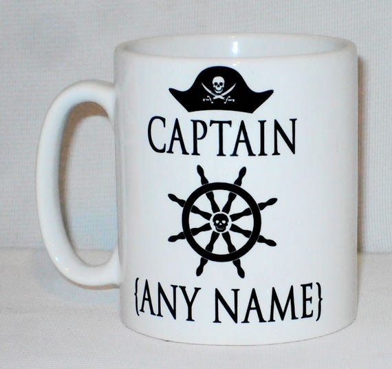 d659ae2538b Pirate Captain Mug Can Be Personalised Canal Boat Narrowboat Barge Gift