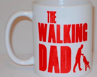 The Walking Dad Mug Can Personalise Funny Dead Zombie Parody New Parent Chav TV Gift