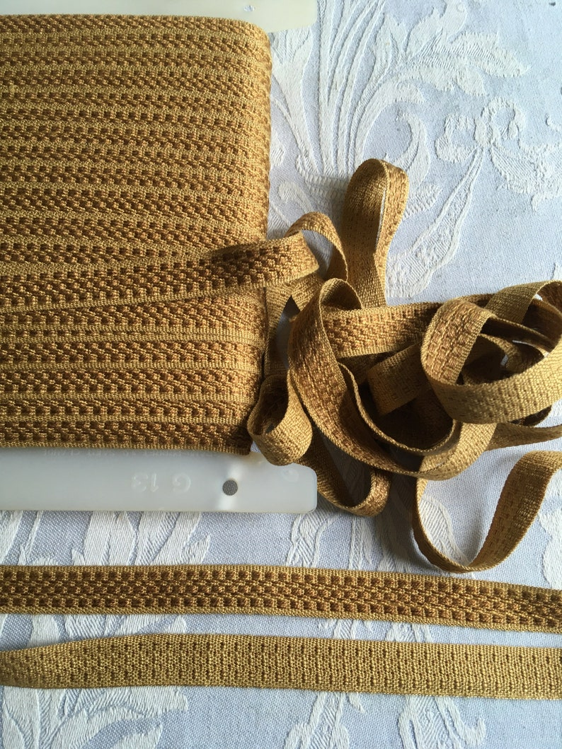 cushions upholstery haberdashery passementerie VARIOUS colors 5.5 YARDS 5 METRES flat braid trim French vintage Gimp trim curtains