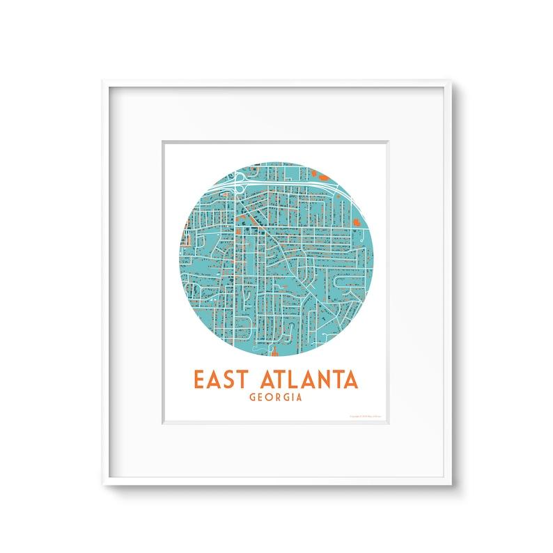 East Atlanta Atlanta Neighborhood GA Map image 0