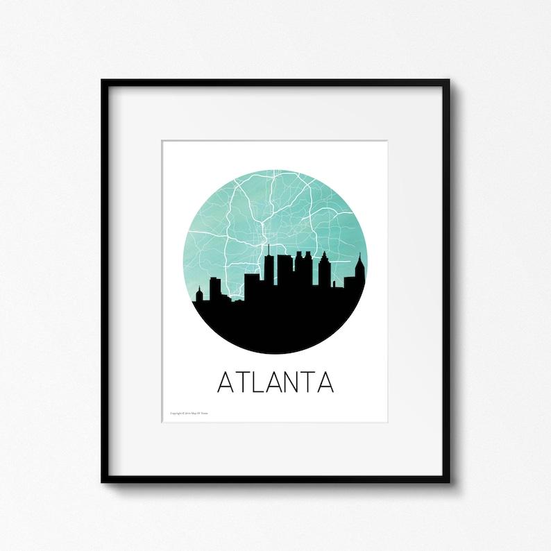 Atlanta Skyline Map Downtown Atlanta Map image 0