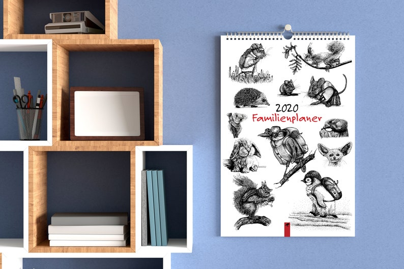 Family Calendar 2020 Animals and Ink  5 columns  image 0