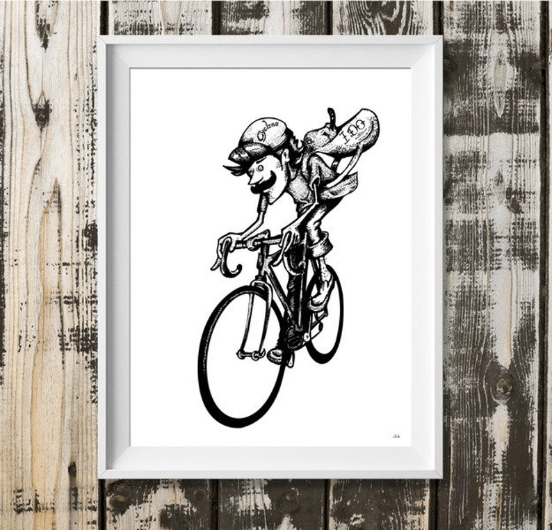Digital printing A4: cycling-I do image 0