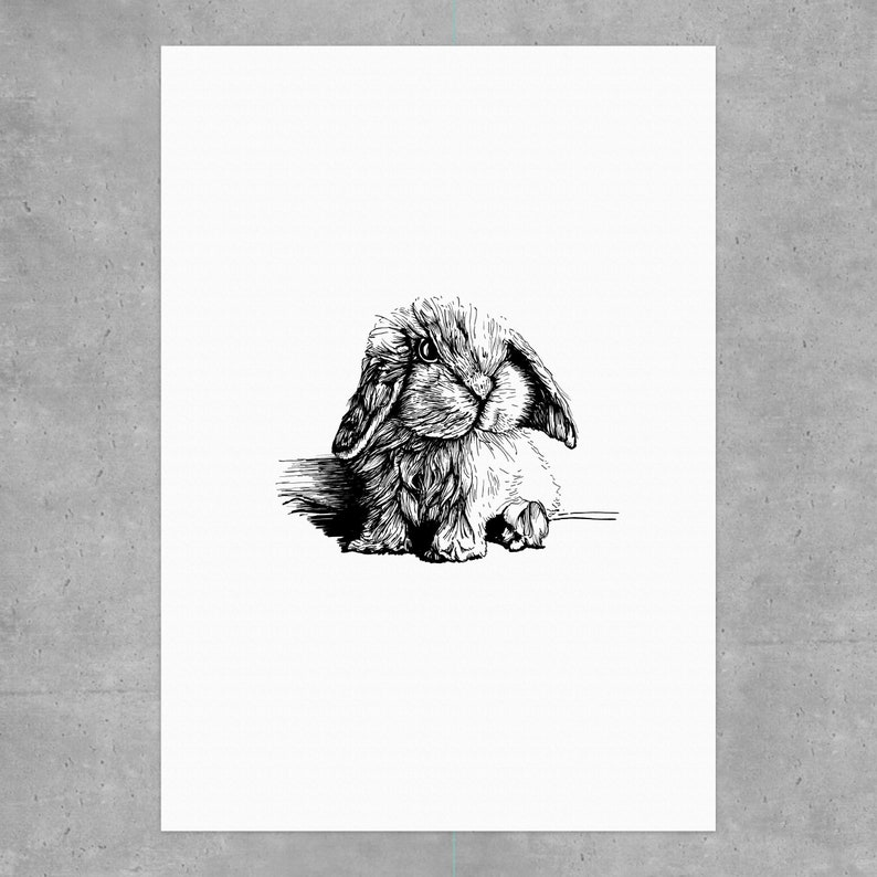 Digital print A4: Small bunny 2019 image 0