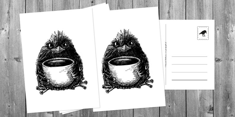 Postcards 5 pieces: Coffee therapy image 0