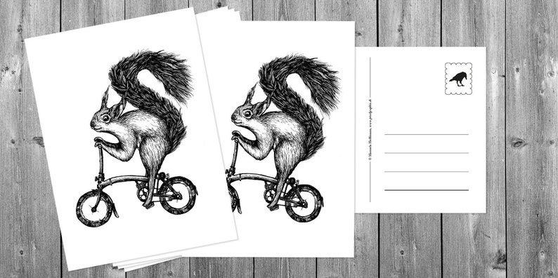 Postcards 5 pieces: Cycling / Cycling image 0