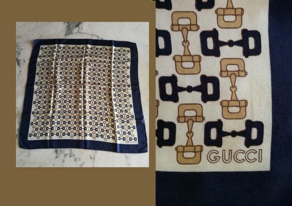 Scarf by Gucci. Gucci 60's scarf. Vintage silk sca