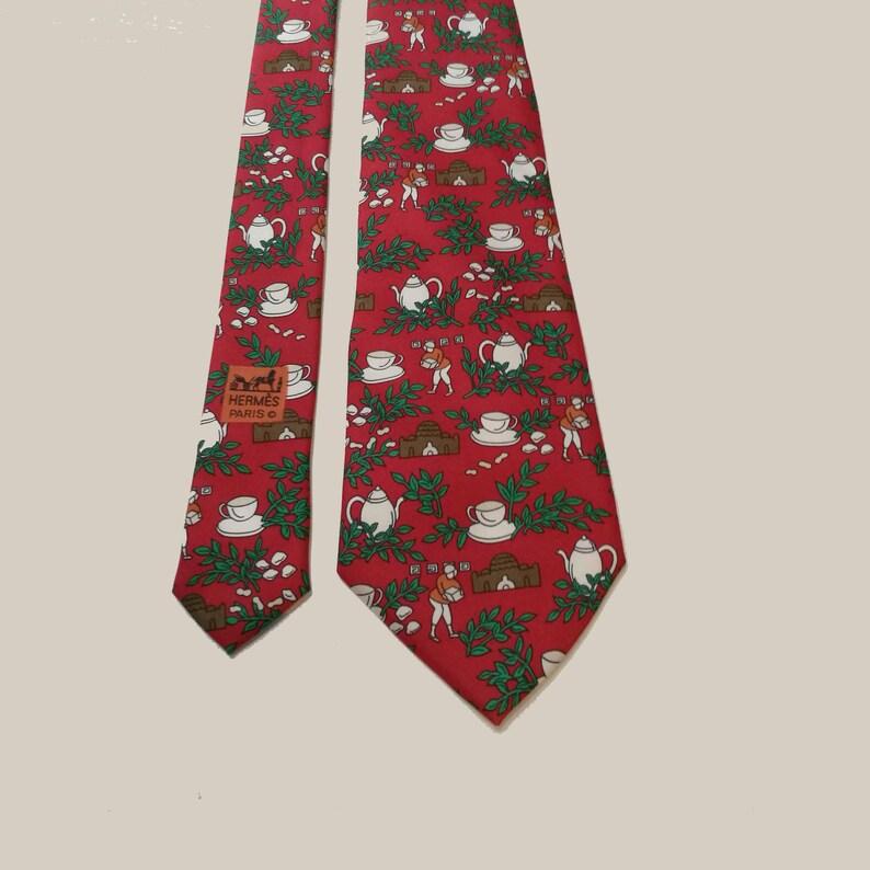 922928b2a1e1 Hermès vintage tie. Rare Hermes tie. Necktie Hermes serial | Etsy