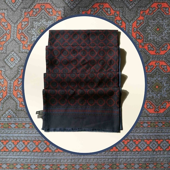 Scarf by Valentino Stratos. Silk and Wool. Reversi