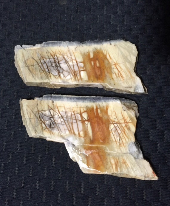 Picasso Marble Jasper Pair Of Gorgeous Rough Slabs 2 109g