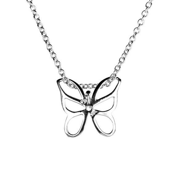 """CZ DRAGONFLY .925 Sterling Silver Pendant Necklace 16/""""+1/""""EXT"""
