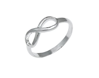 925 Sterling Silver Endless Love Promise Infinity Symbol Ring Size 5-10
