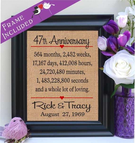 Eighth Wedding Anniversary Traditional Gift: 47th Anniversary Gift To Wife Gift To Husband Anniversary