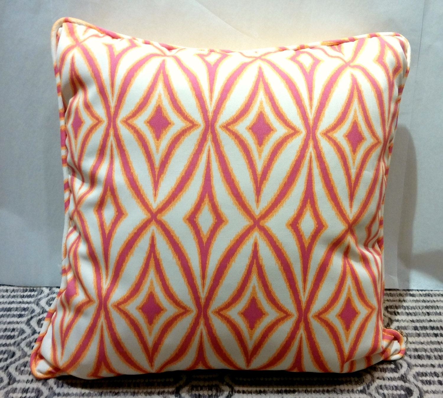 20x20 Indoor Outdoor Pillow Cover With Invisible Zipper Yellow And