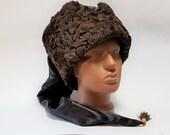 Russian Papakh Cossack hats Natural Astrakhan Fur Karakul Army