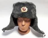 Quality Russian Military Winter Hat Ushanka Artificial fur