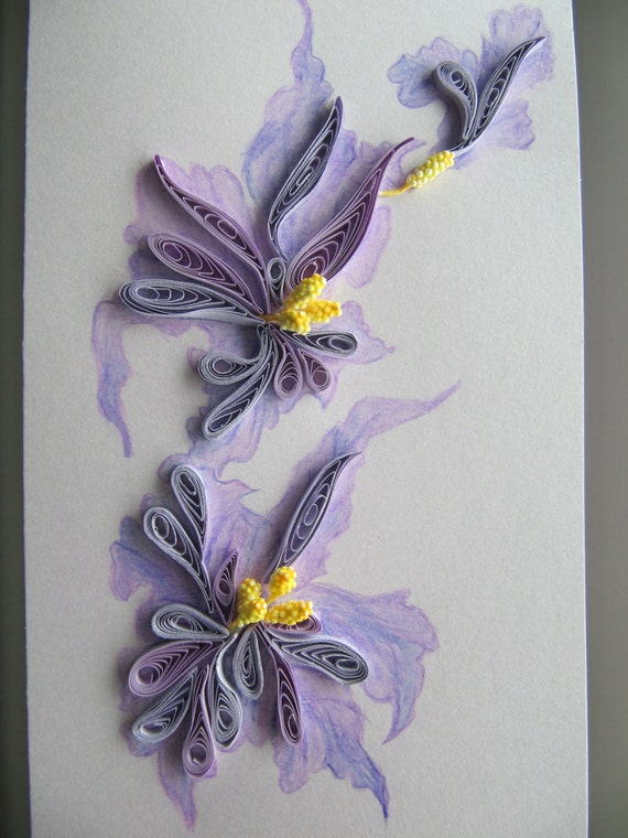 Handmade painting and quilling greeting card birthday gift etsy image 0 m4hsunfo