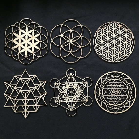 Sacred Geometry - Laser Cut, Stencil, Wall Art, Crystal Grid, Stamp - 2  Sizes