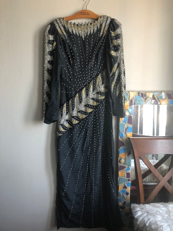 VINTAGE Sequin Formal Gown