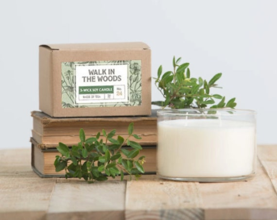 Walk in the Woods 3-Wick Candle in Kraft Box 16 oz.