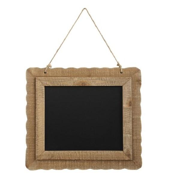 """Wood Framed Chalkboard w/ Jute Rope 19-1/2""""L x 17-3/4""""H"""