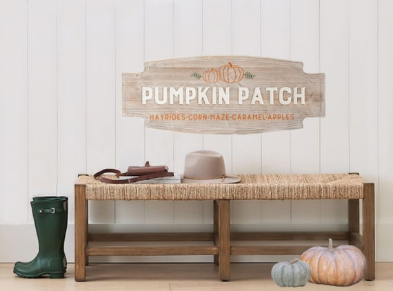 Pumpkin Patch | Fall Sign | Farmhouse | Fall Decor | Wood Sign | Autumn | Neutral Fall | Seasonal Decor | Fall Porch and Entry