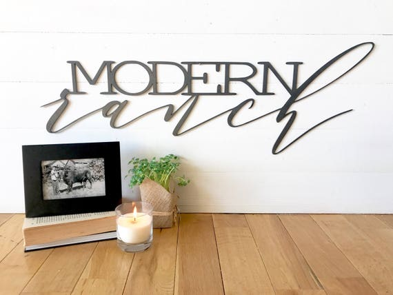 Modern Ranch | Steel - Metal | Word Wall Art | Southwestern | Ranch Style | Aztec | Western Sign