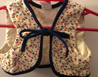 37735f64eb9 60s girls vintage vest boho hippie floral print cute navy cord piping 70s  vtg kids top cute cropped 3t retro child daisy baby flower child