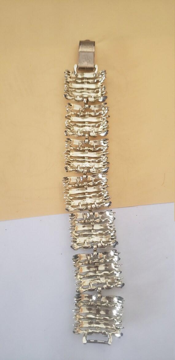 Vintage, Coro signed, link, gold tone bracelet