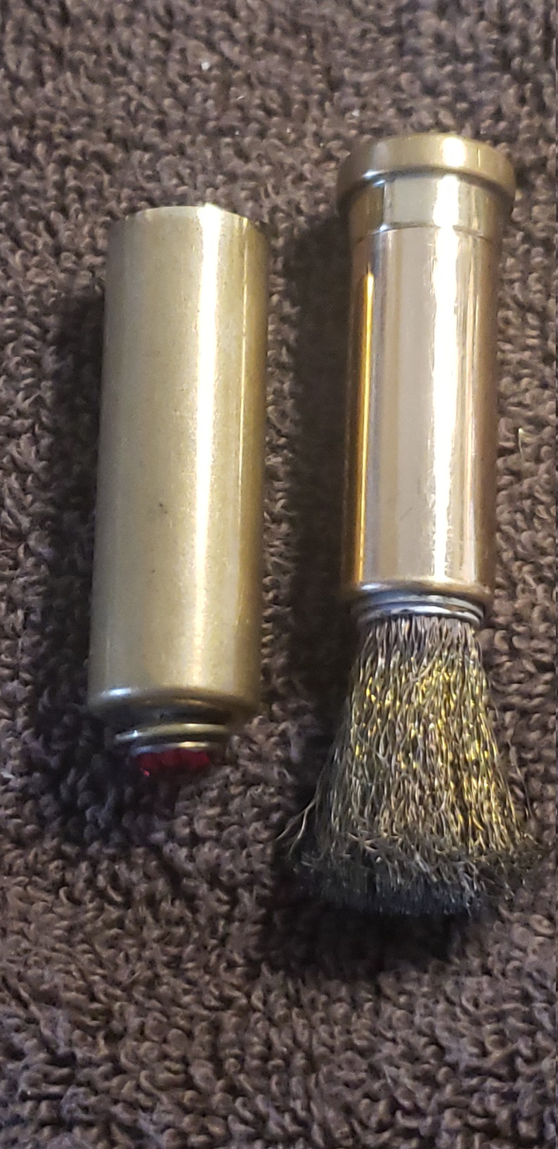 brass Vintage steel brush cleaner compact