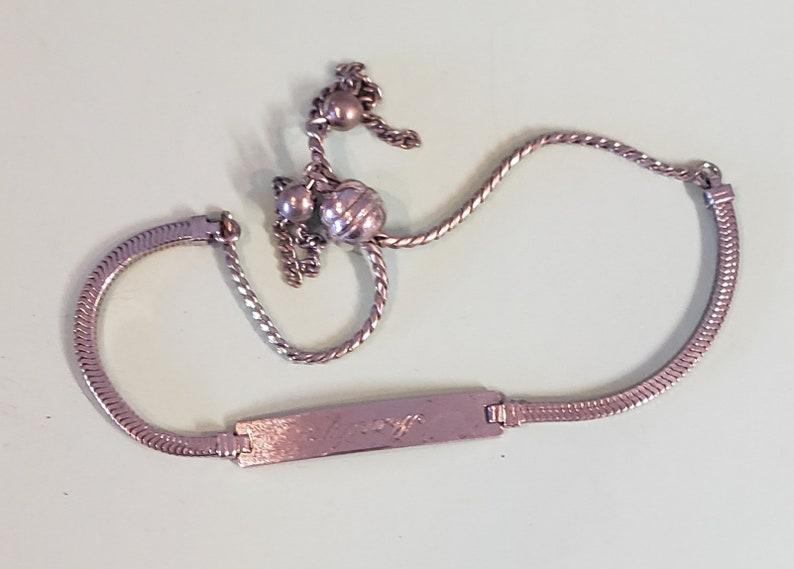 name bracelet Marilyn Vintage made in USA sterling