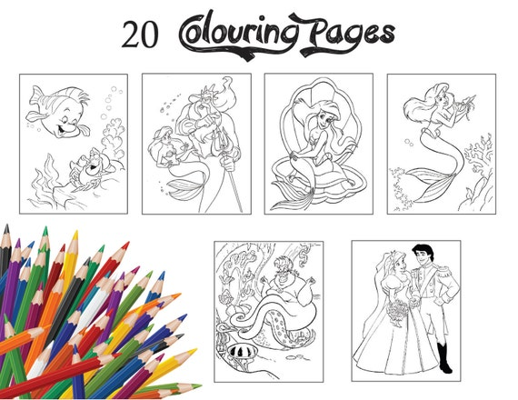 Children Colouring Pages 20 Assorted Colouring Pages Of The Etsy