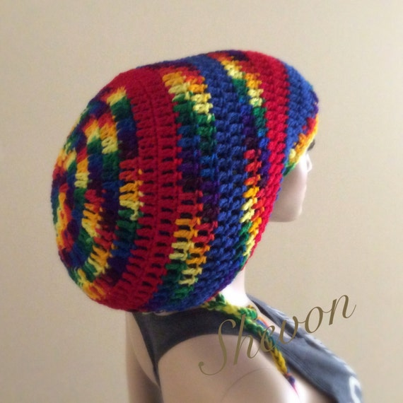 Dreadlocksrasta Tam Crochet Pattern Etsy
