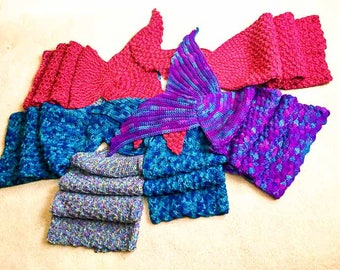 Crochet Pattern - Mermaid Tail Afghan Blanket/ Crochet Mermaid Tail/ Mermaid Blanket Child size