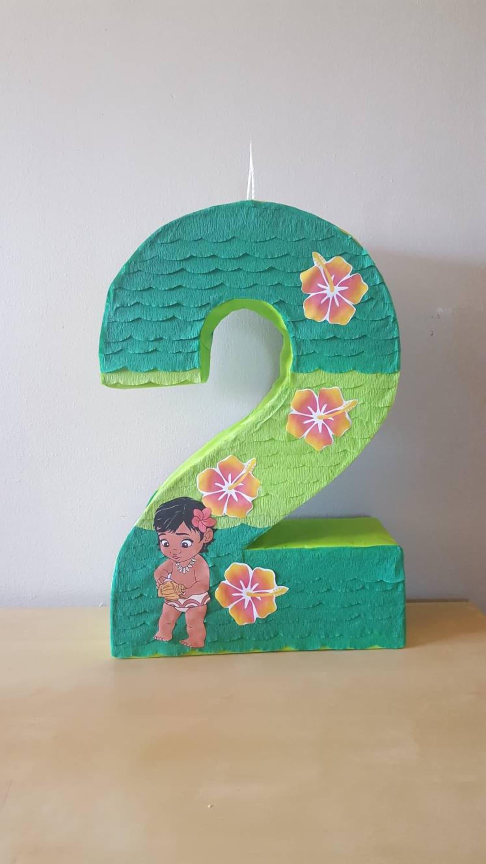Baby Moana Number Pinatas