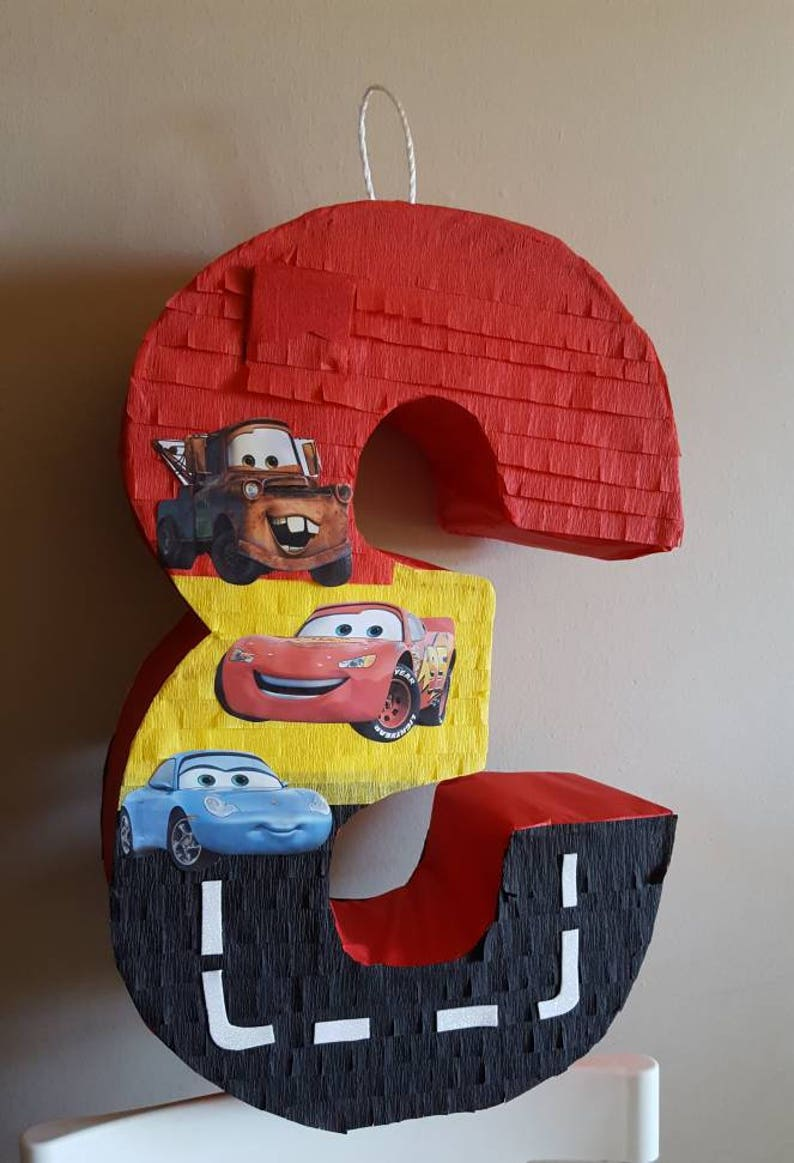 Number pinata inspired by Cars